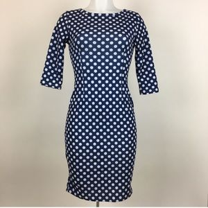 Nordstrom Sunnyfair polka dot fall bodycon dress